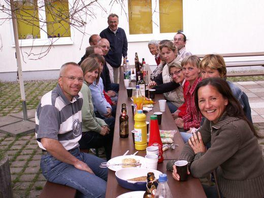 Grillabend nach dem Lauf in Binz 2006
